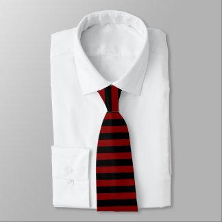Granat und Schwarz-Horizontal-Gestreifte Krawatte
