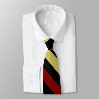 Granats-Gold und schwarze Diagonal-Gestreifte Krawatte