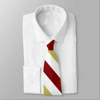 Granats-Gold und weiße kundenspezifische Personalisierte Krawatte