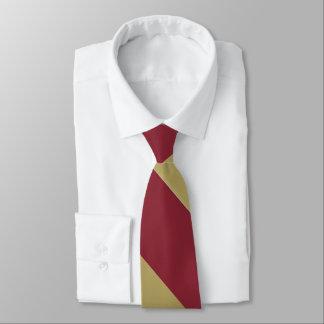 Granats-und Goldbreiter Hochschulstreifen Krawatten