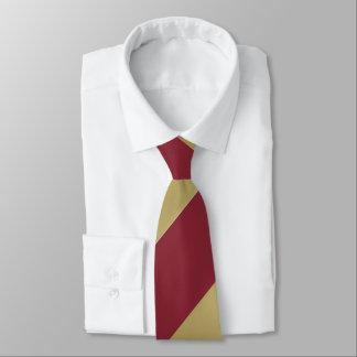 Granats-und Goldbreiter Regimentsstreifen Krawatte