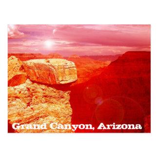 Grand- Canyonarizona gemalte Wüstenpostkartenkunst Postkarte