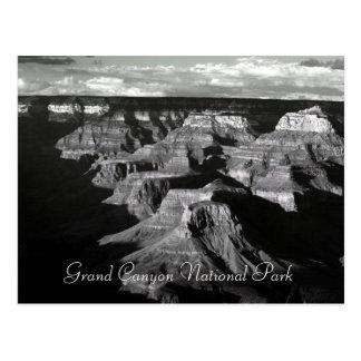 Grand- CanyonNationalpark-Schwarzweiss-Posten Postkarte