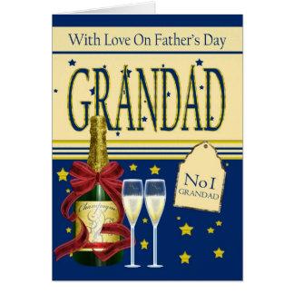 Grandad, der Vatertags-Karte - Champagne Karte