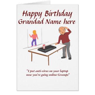 Grandadgeburtstag lustig und kundengerecht grußkarte