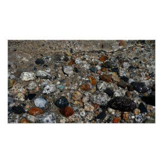 Granit-Kiesel in Tenaya Seeyosemite-Natur Poster