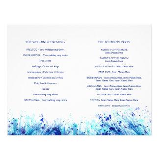 Graskunst-Kranz-Hochzeitsprogramm des Aquarells Flyer