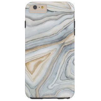Grau gemarmorter abstrakter Entwurf Tough iPhone 6 Plus Hülle