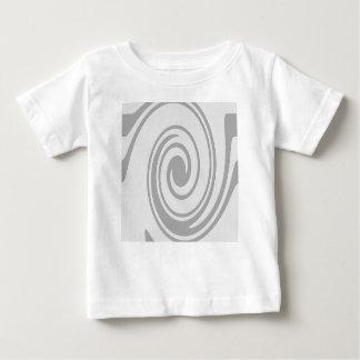 Grau-gewundenes Muster-Fließen von links nach Baby T-shirt