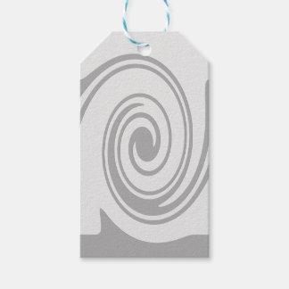 Grau-gewundenes Muster-Fließen von links nach Geschenkanhänger