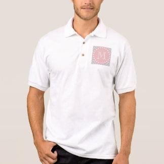 Grau-u. Baby-Rosa-modernes Zickzack Poloshirt