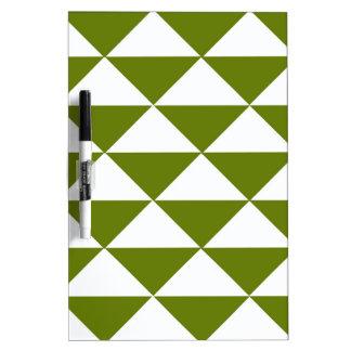 Graubraune grüne und weiße Dreiecke Trockenlöschtafel