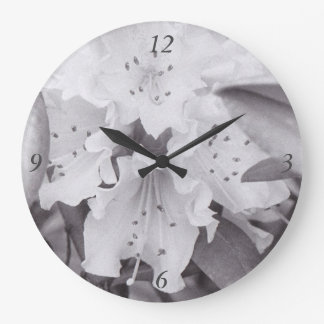 Graue Blumenkreis-Uhr Große Wanduhr