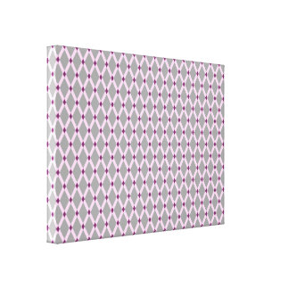 Graue Diamant-Rosa Rahmen wickelten Leinwand ein Galerie Gefaltete Leinwand