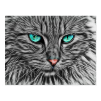 Graue Katzen-Kunst Postkarten