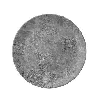 Graue rohe Beton/Zement Spott-Beschaffenheit Porzellanteller