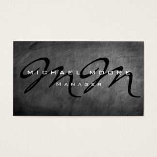 Graue Tafel-mutiger Monogramm-Minimalist modern Visitenkarte