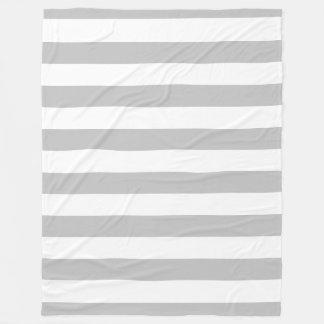 Graue und weiße gestreifte Fleece-Decke Fleecedecke