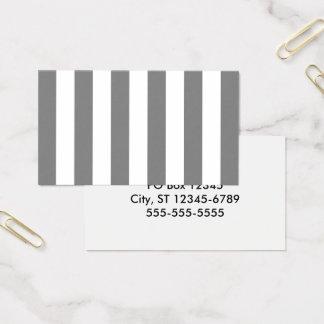 Graue und weiße Streifen Visitenkarte
