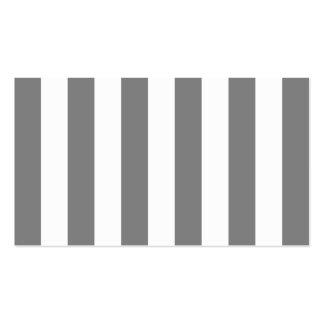 Graue und weiße Streifen Visitenkarten