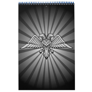 Grauer Adler mit zwei Köpfen Wandkalender