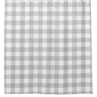 Grauer Büffel-kariertes Checkered Muster Duschvorhang