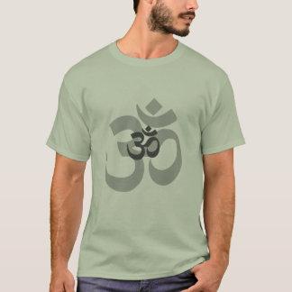 Grauer Entwurf OM-Om für Männer T-Shirt