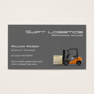 Grauer Gabelstapler Logisitcs berufliche Visitenkarten