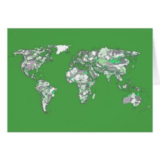 Grauer grüner Atlas Grußkarte