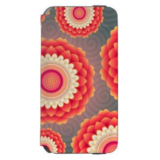 Grauer roter Blumen-Kasten Incipio Watson™ iPhone 6 Geldbörsen Hülle