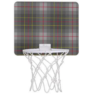 Grauer Tartan-Minibasketball-Ziel Mini Basketball Ringe