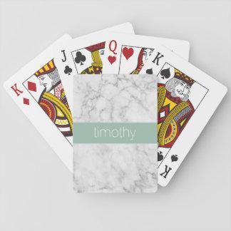 Grauer und tadelloser Marmormuster-individueller Spielkarten