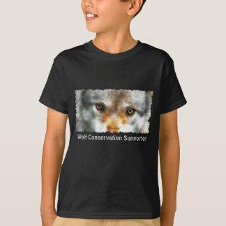 GRAUER WOLF MUSTERT Tier-Kunst-Shirt T-Shirt