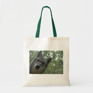 Grauer Wolf-Tasche Budget Stoffbeutel