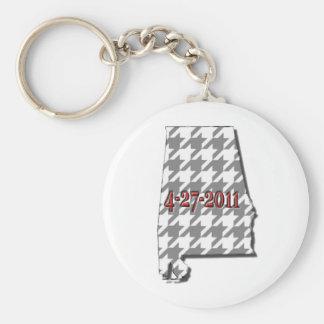 Graues Alabama Standard Runder Schlüsselanhänger