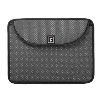 Graues Tupfenspaßmuster Macbook Prohülse MacBook Pro Sleeve