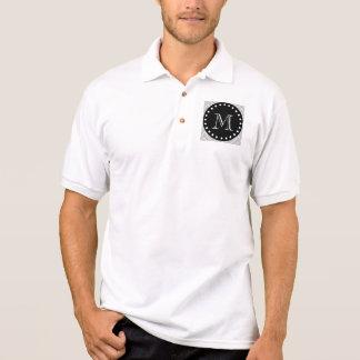 Graues u. schwarzes modernes Zickzack Polo Shirt