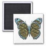Gravierter Magnet des Schmetterlings-3 Kühlschrankmagnet
