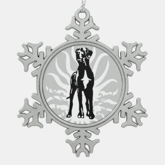Great Dane stud dog Schneeflocken Zinn-Ornament