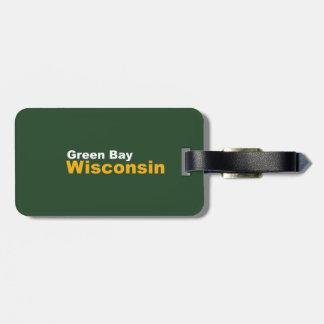 Green Bay, Wisconsin-Gepäckanhänger mit Lederband Gepäckanhänger