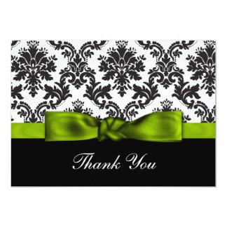 green damask ThankYou Cards Invitations