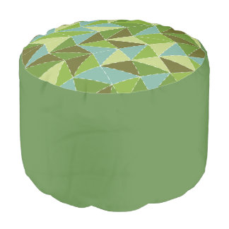 Green pouf hocker