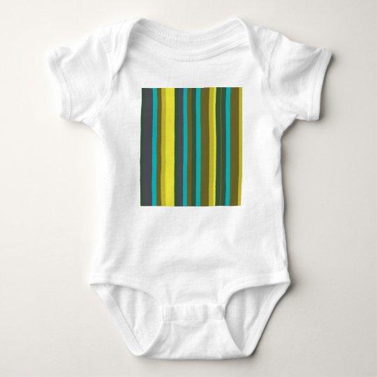 Green_stripes Baby Strampler