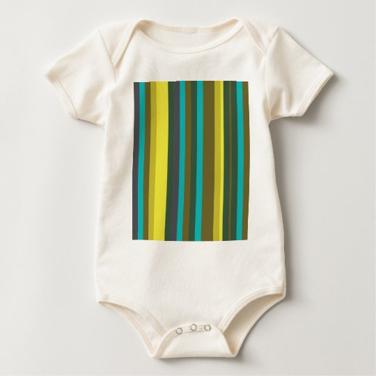 Green_stripes Baby Strampler