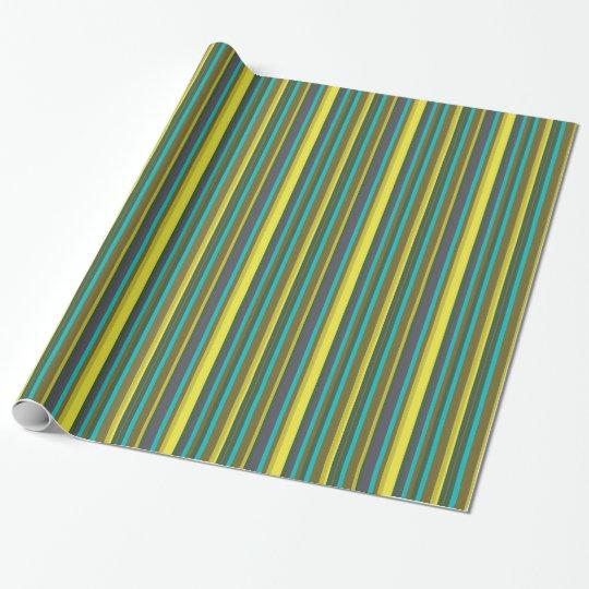 Green_stripes Einpackpapier