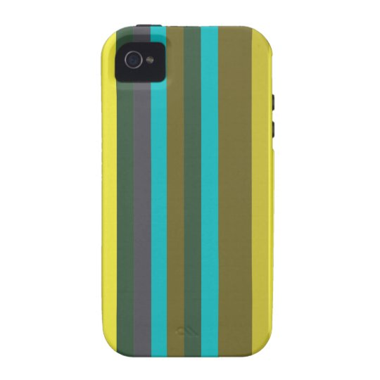 Green_stripes iPhone 4/4S Case