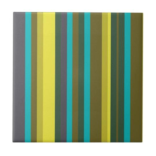 Green_stripes Kleine Quadratische Fliese