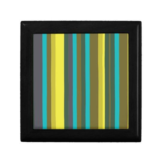 Green_stripes Kleine Quadratische Schatulle