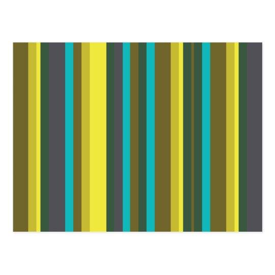 Green_stripes Postkarte