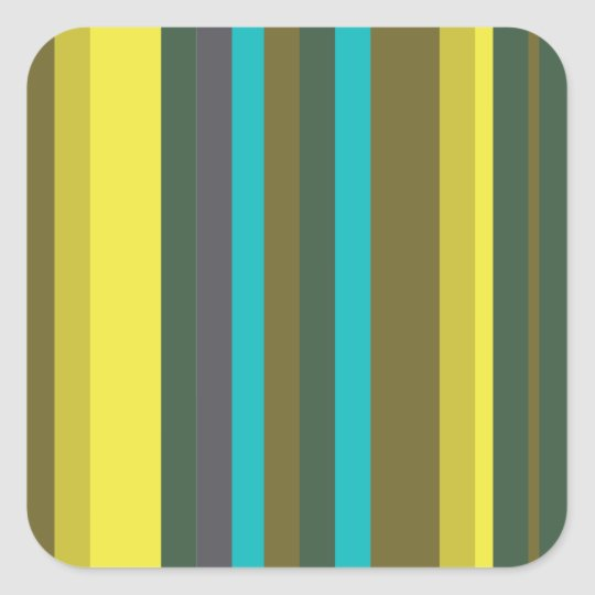 Green_stripes Quadratischer Aufkleber